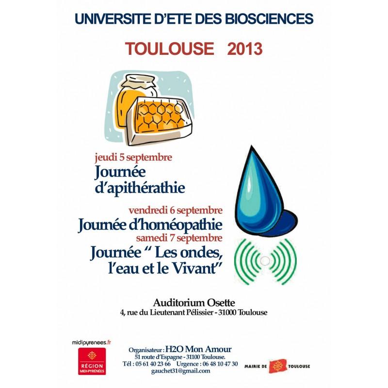 UNIVERSITÉ D'ÉTÉ DES BIOSCIENCES 2013