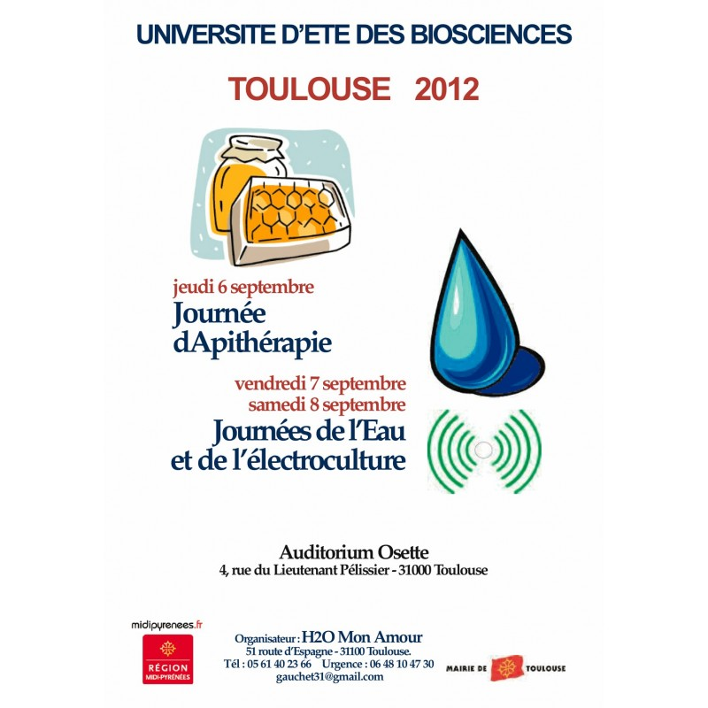 UNIVERSITÉ D'ÉTÉ DES BIOSCIENCES 2012